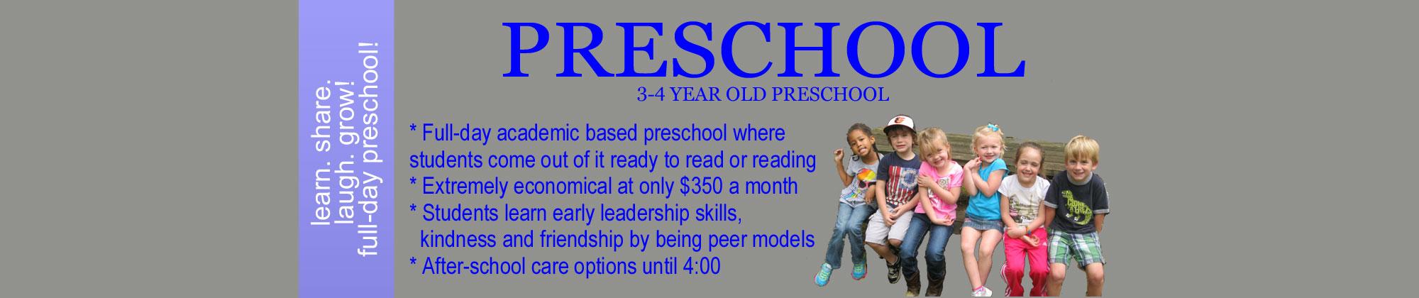Slider-Preschool